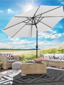 Sonnenschirm Marktschirm Aluminium UV+50 Durchmesser 270 cm, Höhe 245 cm, Creme