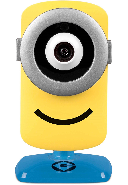 Universal Studios Stuart Minion IP Kamera in HD Tag/Nacht inkl. 24h kostenloser Cloud Speicher als Überwachungskamera und Sicherheitskamera im spielerischen Design
